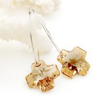 crystal - cross   earrings980508
