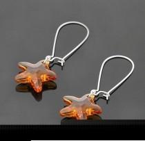 strass crystal  Starfish  earrings 1