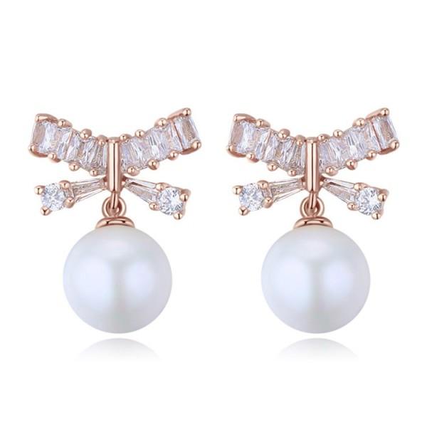 Silver Needle Bow Earrings 25965