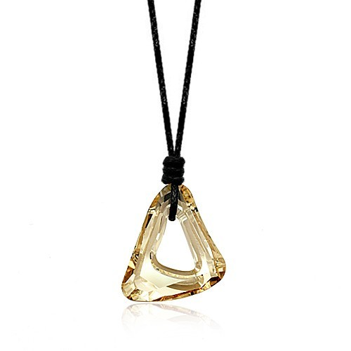silver Austrias crystal necklace062112