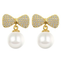 Bow pearl earrings q8880932a