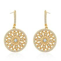 Silver needle hollow earring 28678