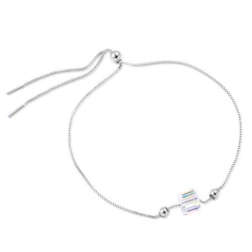 Square silver bracelet 30514