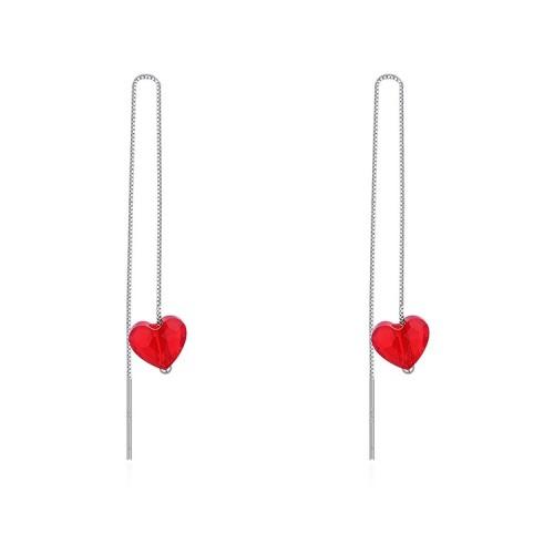 heart silver earring 30504