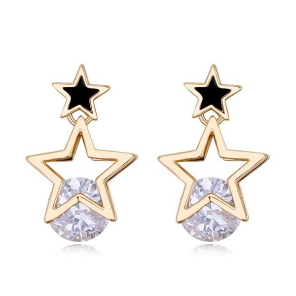 Silver needles star earring 25903