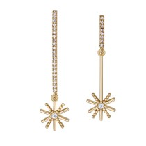 silver needles snowflake earring 26193