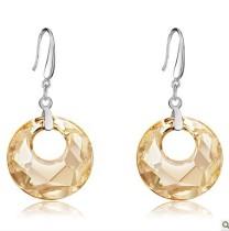 silver crystal earring062707
