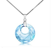 silver crystal pendant 062738(18mm)