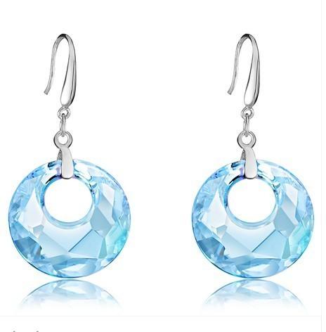 silver crystal earring062709