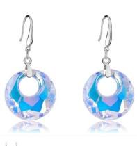silver crystal earring062711