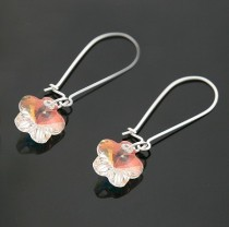 strass flower   earrings 980143