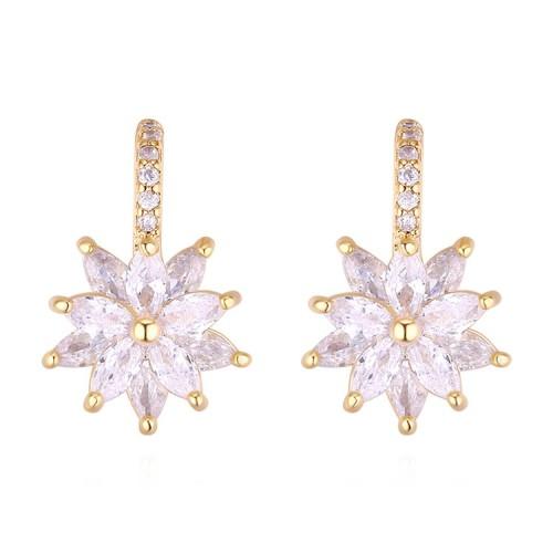 Silver needle snowflake earrings 30020