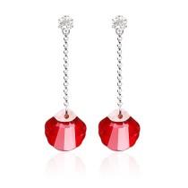 silver Austrias crystal earring062201