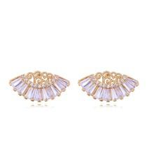 Fan earrings 26618