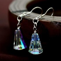 silver 5540 crystal earring031807