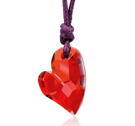 silver crystal necklace070204