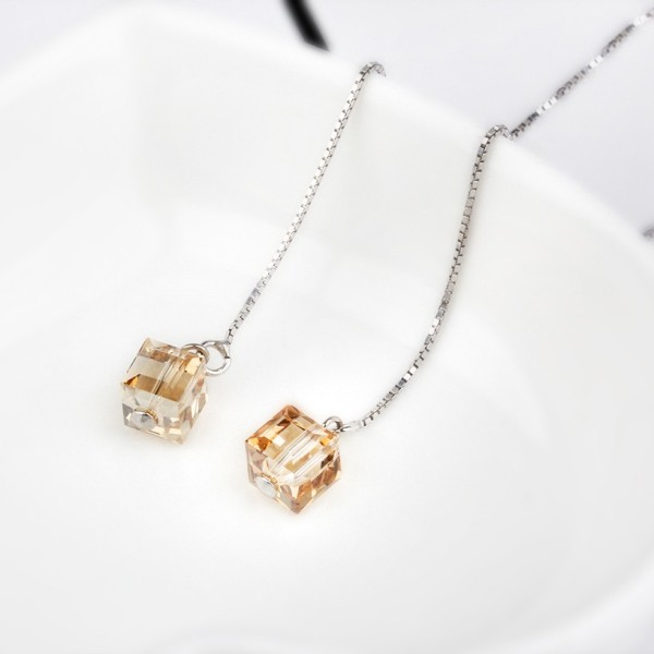 Square long earring 6mm