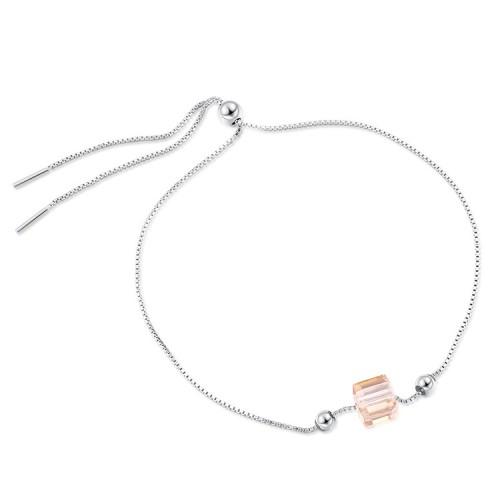 Square silver bracelet 30515