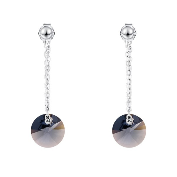round silver earring 30572