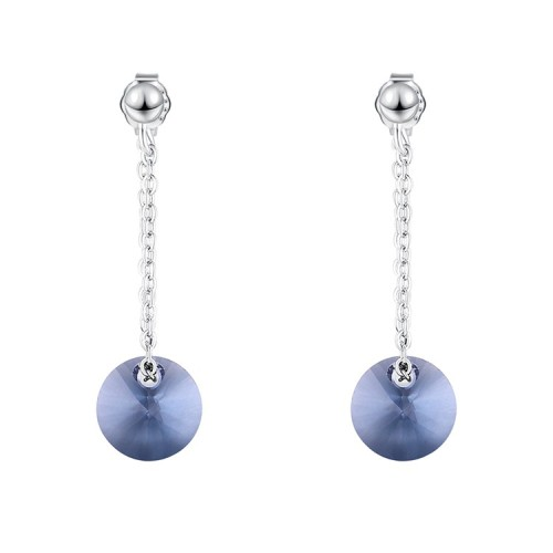 round silver earring 30571