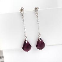 long crystal earring 16mm