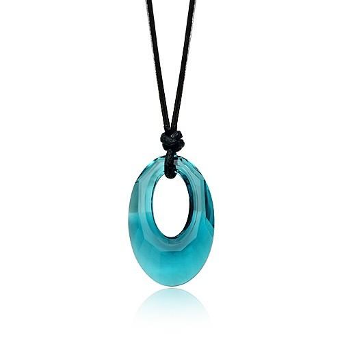 silver Austrias crystal necklace062107