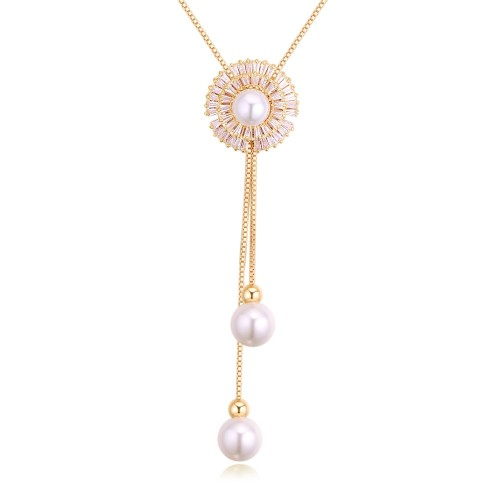 Sun flower long necklace 27238
