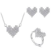 heart jewelry set 30465