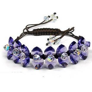 silver Austrias crystal bracelet12040707