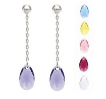 made with      crystal earrings 980163