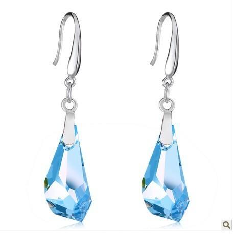 silver crystal earring070119