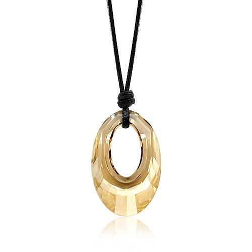 silver Austrias crystal necklace0621008