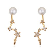 Silver needles star earring 26025