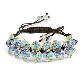 silver Austrias crystal bracelet12040701