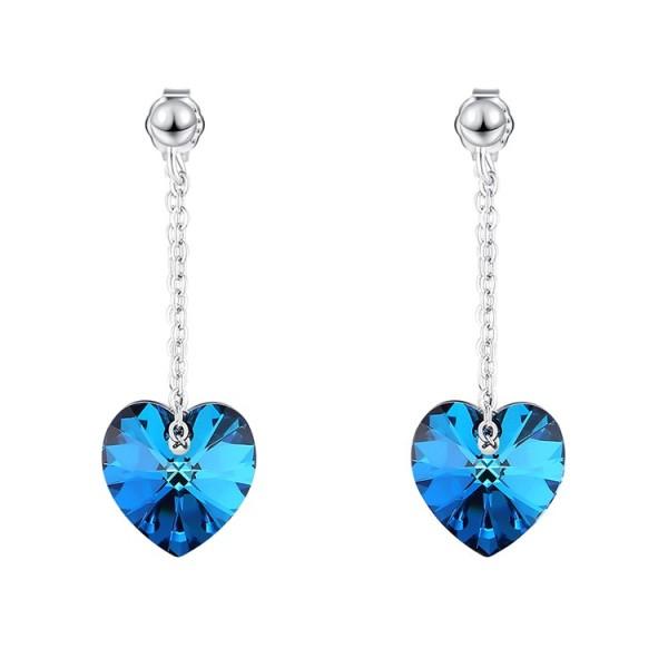 heart silver earring 30578
