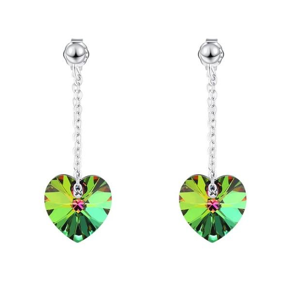 heart silver earring  30576
