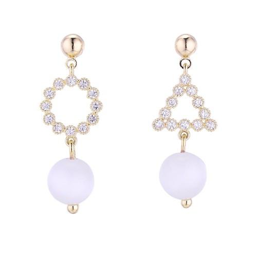 Geometric asymmetrical earrings 30741