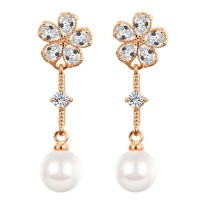 flower pearl long earring q8880972a