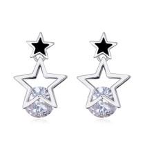 Silver needles star earring 25901