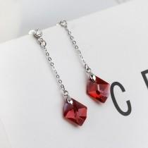 Diamond long earrings 14mm