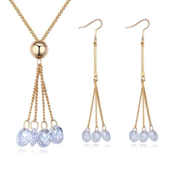 drop zircon jewelry set 29585