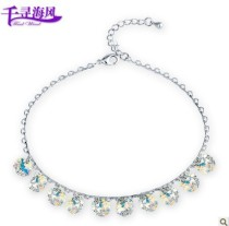 silver crystal Anklets 063004