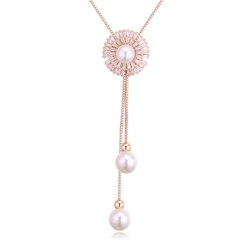 Sun flower long necklace 27240