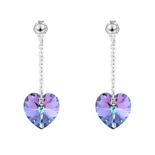 heart silver earring 30577