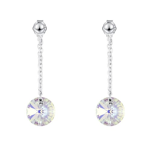 round silver earring 30574