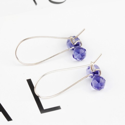 Dumbbell long earrings 11mm