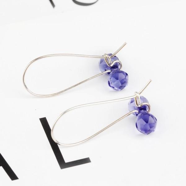 Dumbbell long earrings 11mm