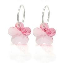 strass flower earring 980126