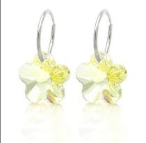 strass flower earring 980127