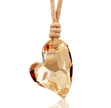 silver crystal necklace070113